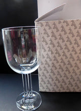 Load image into Gallery viewer, Designer Vintage Rosenthal Cupola WHITE WINE Glasses. Unusual Double Stem. SINGLE Glass