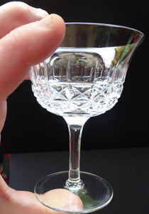 Vintage TUDOR Crystal Sherry or Liqueur Glass. SINGLE GLASS. 4 inches in height