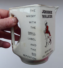 Load image into Gallery viewer, 1930s JOHNNIE WALKER Whisky Advertising Jug. Geometric Shape with Handle Built into the Main Body Section