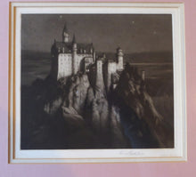 Load image into Gallery viewer, Rare Signed MEZZOTINT by Percival Gaskell. Entitled Neuschwanstein Castle (Mad King's Castle). Published 1913