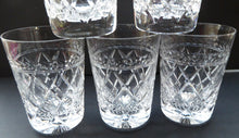 Load image into Gallery viewer, Set of FIVE Vintage STUART Crystal Whisky Glasses or Tumblers. Possibly Cheltenham Pattern
