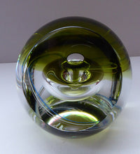 Load image into Gallery viewer, SCOTTISH Caithness Glass LIMITED EDITION Paperweight: Chrysalis by Margot Thomson; 1991
