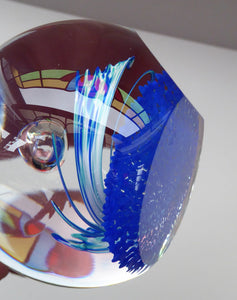 Fabulous LIMITED EDITION Scottish Caithness Glass Paperweight: Exuberance by Alastair MacIntosh; 1993