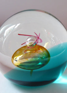 Fabulous LIMITED EDITION Scottish Caithness Glass Paperweight: Scarab by Colin Terris; 1992
