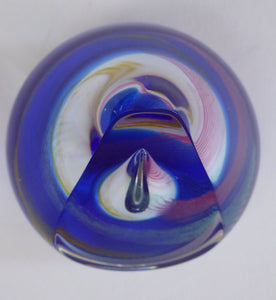 1990 Caithness Glass Paperweight: QUEST by Margot Thomson