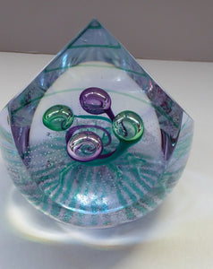 CAITHNESS GLASS. Limited Edition Vintage Paperweight. Lilac Wonder by Helen MacDonald. Limited Edition