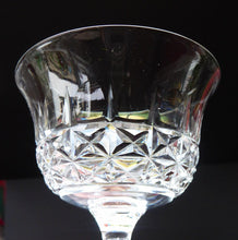 Load image into Gallery viewer, Vintage TUDOR Crystal Sherry or Liqueur Glass. SINGLE GLASS. 4 inches in height