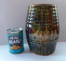 Load image into Gallery viewer, SCOTTISH POTTERY. Antique Morrison & Crawford, Kirkcaldy (Rosslyn) Pottery SUGAR Barrel Jar