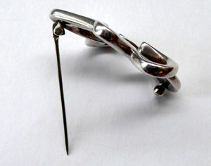 GEORG JENSEN Sterling Silver Vintage Amorphic SPLASH Brooch; No 321. Designed by Henning Koppel