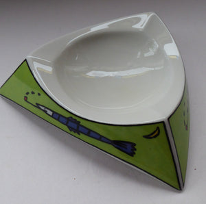 ROSENTHAL Love Story Pattern Studio Linie Ashtray or Shallow Dish. Designed by Dorothy Hafner, 1980s