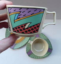 Load image into Gallery viewer, PAIR of ROSENTHAL Flash One Pattern Studio Linie Coffee Cups and Saucers. Designed by Dorothy Hafner, 1980s