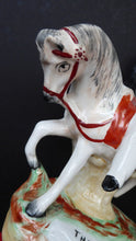 Load image into Gallery viewer, Rare Genuine Antique STAFFORDSHIRE FIGURE. The Prince (of Wales) on Horseback