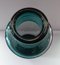 Load image into Gallery viewer, RARE 1950s DANISH Holmegaard Art Glass Bottle Shaped Vase by Per Lutken. Etched signature to the base. 11 inches