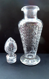 Rarer EDINBURGH CRYSTAL Wine / Port Decanter or Carafe. Older Design with High Shoulders; Flared Foot and Double Pouring Lips