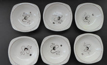 Load image into Gallery viewer, 1950s MIDWINTER Small Bowls. Set of SIX. Collectable FANTASY Pattern. Designed by Jessie Tait in 1953