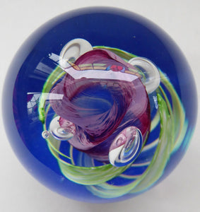 Fabulous LIMITED EDITION Scottish Caithness Glass Paperweight: Elfin Dance by Alastair MacIntosh; 1990