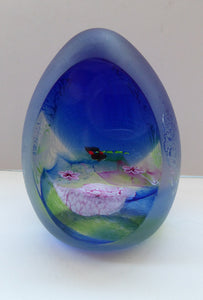 SCOTTISH Limited Edition of Only 100. Caithness Glass Paperweight:  ORIENTAL POOL by Colin Terris; 1998