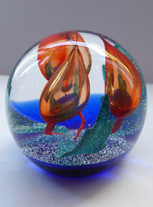 SCOTTISH Caithness Glass LIMITED EDITION Paperweight: Accord by Margot Thomson; 1994