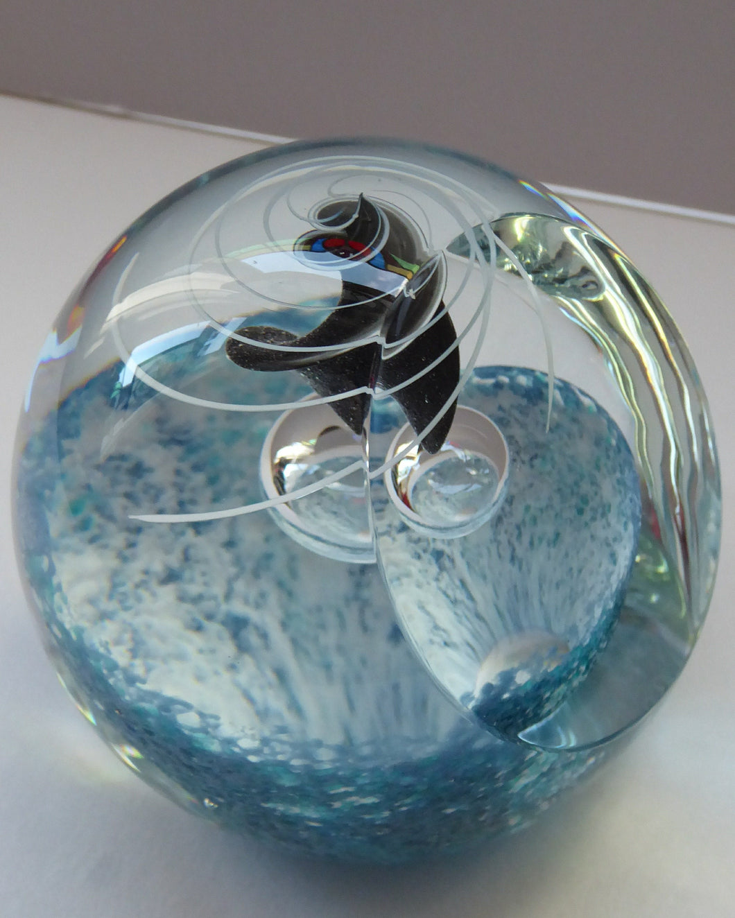 Limited Edition Caithness Glass Paperweight Entitled FREEDOM by Alastair MacIntosh. 1990