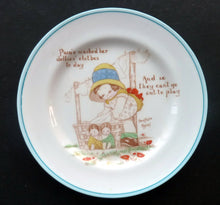 Load image into Gallery viewer, EXTREMELY RARE 1920s Paragon Beatrice Mallet Children's Side Plate: Pam's Washed Her Dollies Clothes