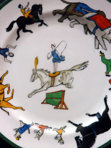 Very Cute & Rare 1930s HAMMERSLEY and Co. CIRCUS Side or Tea Plate