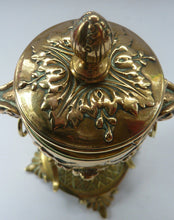 Load image into Gallery viewer, Antique 19th Century Brass Inkwell in the form of a Classical Urn with Ram's Head Handles