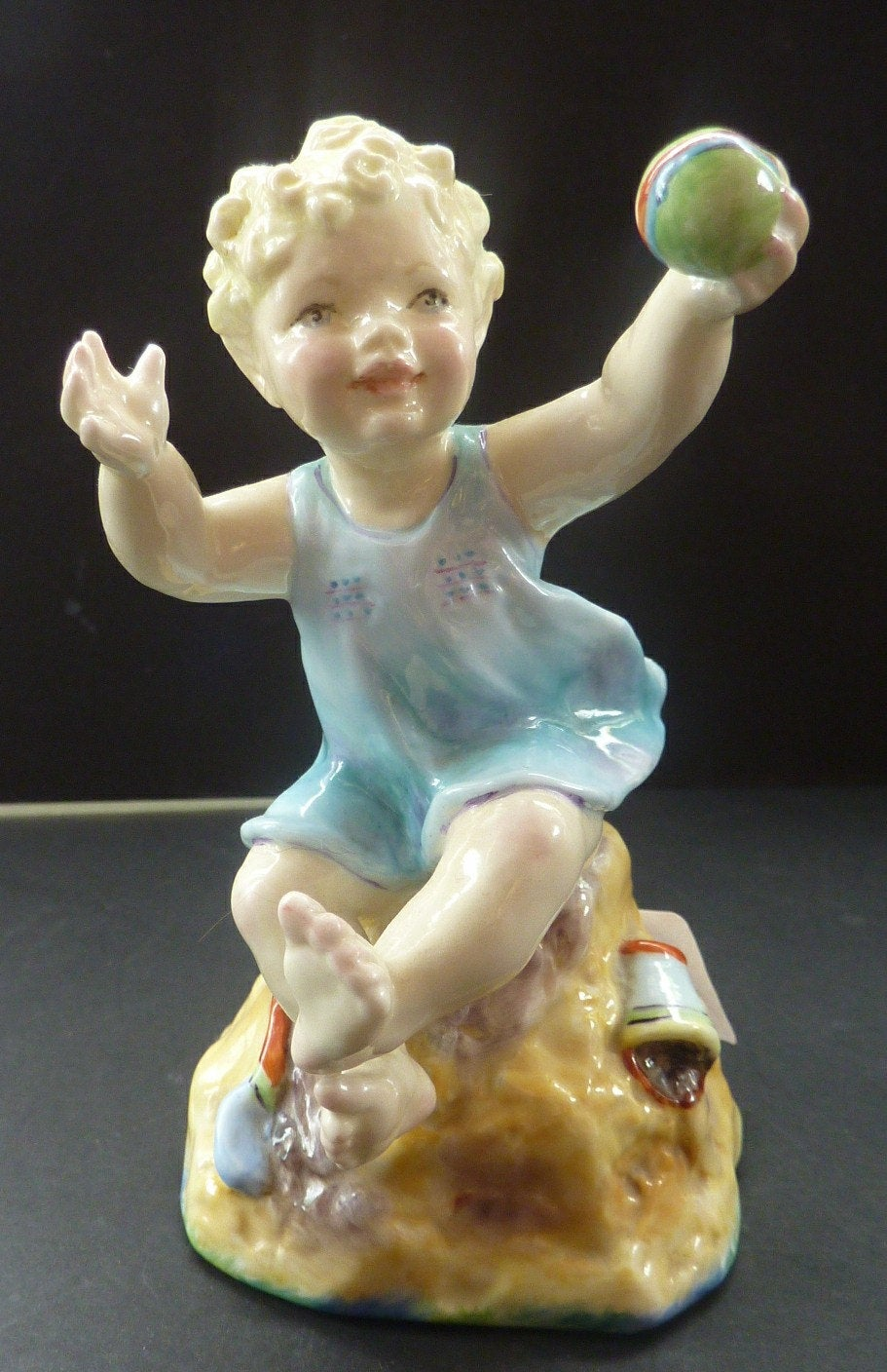 Beautifully Modelled Figurine by Freda Doughty. Sunday's Child ROYAL WORCESTER. Model No. 3256