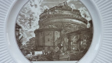 Load image into Gallery viewer, WEDGWOOD Piranesi Vedute di Roma Views: The Castle of St. Angelo. Diameter 10 1/2 inches