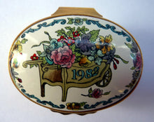 Load image into Gallery viewer, Vintage Halcyon Days Enamels Annual Box 1982. Excellent Condition