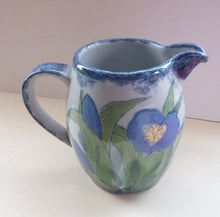 Load image into Gallery viewer, Vintage SCOTTISH Highland Stoneware Jug or Pitcher. Iris Pattern. 6 1/2 inches High