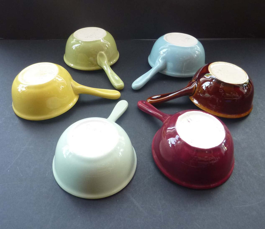 VILLEROY and BOCH Egg Ladles. RARE Little 1960s Vintage Set of Serving Dishes with Handles