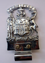 Load image into Gallery viewer, CAR BADGE. Extremely Rare Vintage City of EDINBURGH Transport Council Official Car Mascot. Nickel Plate and in Excellent Condition