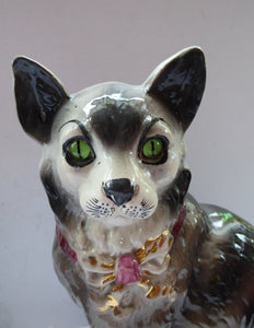Antique SCOTTISH POTTERY. Highly Collectable Victorian / Edwardian Bridgeness (Bo'ness) Cats, c 1908