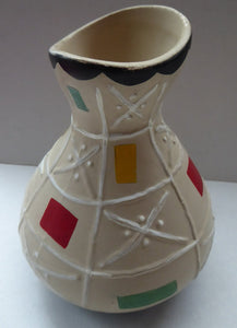 Rare BRENTLEIGH WARE 1950s Atomic Gourd Shaped Vase: LORCA Shape and Rarer Beige Colour