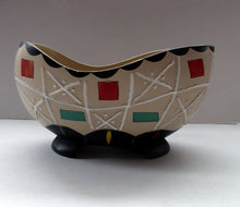 Load image into Gallery viewer, Rare BRENTLEIGH WARE 1950s Decorative Footed Bowl: NOVENTA Shape and Rarer Beige Colour