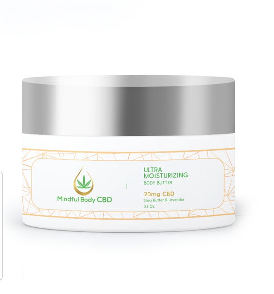 Ultra Moisturizing Lavender Shea Body Butter CBD- 20 mg