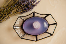 Load image into Gallery viewer, Stained Glass Soap Dish with Lavendar Sage Soap