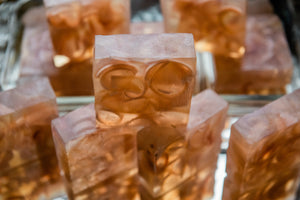 HEALING: Gardenia with Dragon's Blood Embeds Soap
