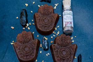 PROTECTION! Honey Hamsa Hand Soap with Frankincense and Myrrh