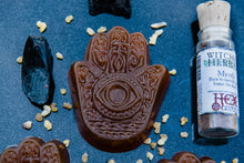 Load image into Gallery viewer, PROTECTION! Honey Hamsa Hand Soap with Frankincense and Myrrh