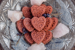 LOVE SPELL: Rose Kaolin Clay Hearts
