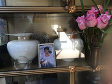 Load image into Gallery viewer, His and hers custom urns. together in life and for all eternity.