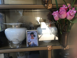 His and hers custom urns. together in life and for all eternity.