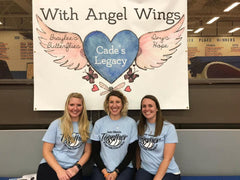 With Angel Wings founders - Brittany, Natalie, & Jessica