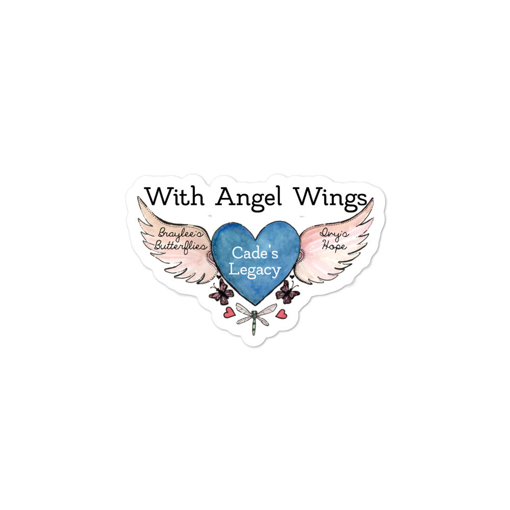 With Angel Wings Bubble-free stickers