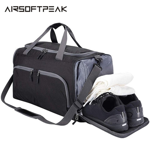 "20"" Packable Sports Gym Bag with Shoe Compartment"