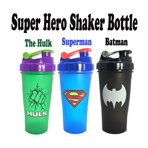 Super Hero Shaker Bottle