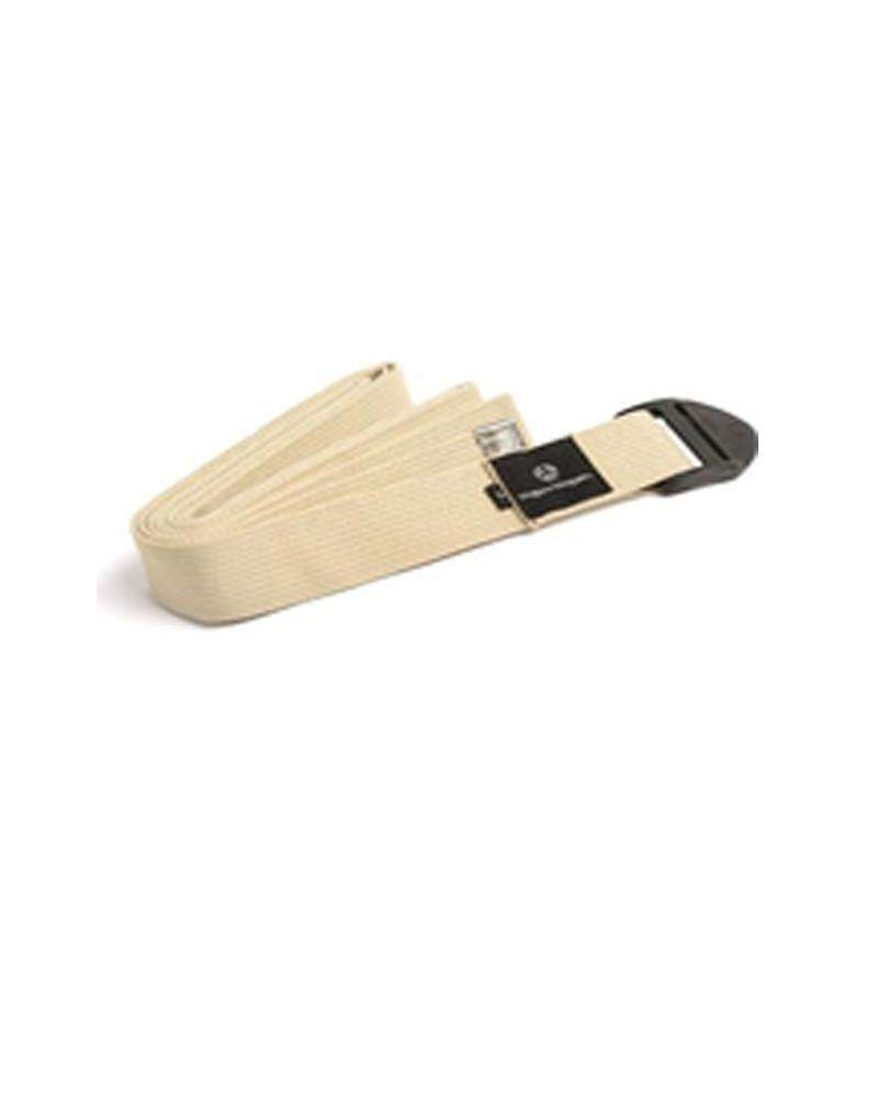 Cotton Cinch Yoga Strap - White - Mukha Yoga