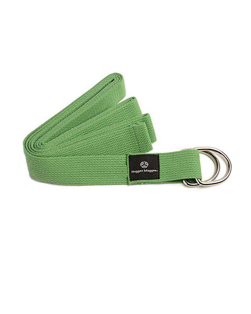 Cotton D-Ring Yoga Strap - Green - Mukha Yoga