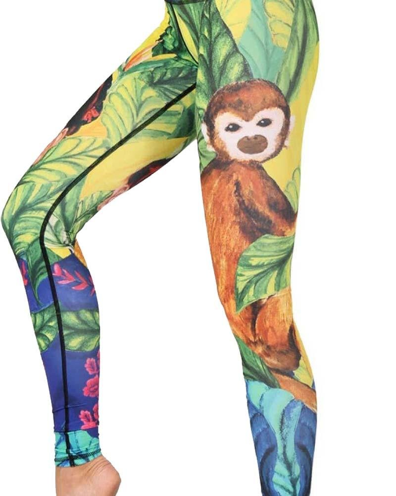 Frida Printed Yoga Legging - Mukha Yoga